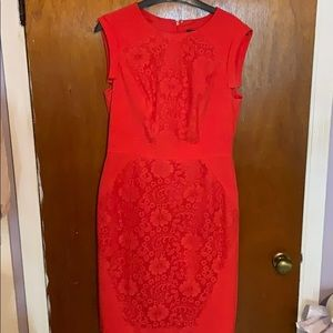 Coral Dress by Adrianna Papell